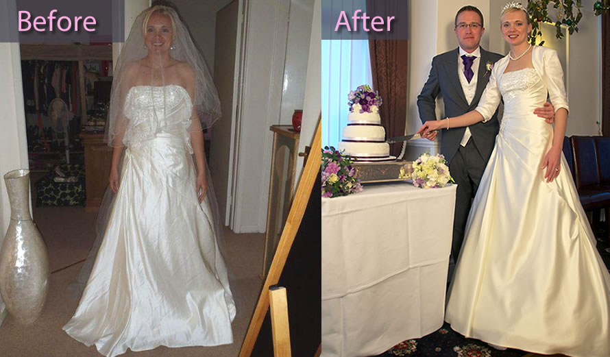 Wedding dress alterations before and after sm junglespirit Image collections
