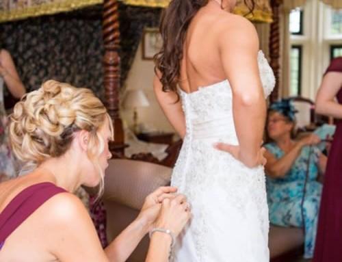 Button Detail Wedding Dress
