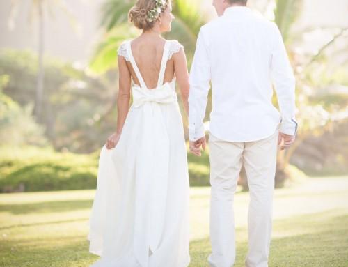 Backless Boho Style Wedding Dress